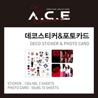 [Под заказ] A.C.E - Набор из 2 наклеек и 10 карточек (UNDER COVER : OFFICIAL GOODS)